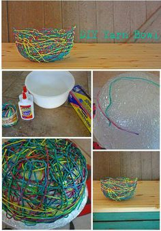 Activity with the kids .. DIY Yarn Bowl