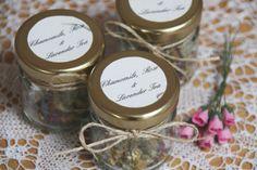 Tea wedding favour Chamomile Rose and Lavendar tea by GreenCaligo, £14.00