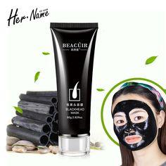 Negro de carbón botella pieles pro Lagrimeo removedor de la espinilla de la nariz de salida mujeres hombres negro cabeza cuidado de la piel máscara miento saludable y belleza