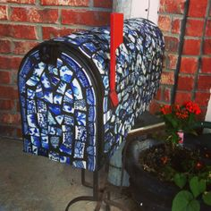 Hey, I found this really awesome Etsy listing at https://www.etsy.com/listing/159631028/broken-china-mosaic-mailbox-mail-box-one