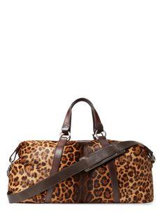 Leopard Duffle Bag by John Varvatos Collection at Gilt John Varvatos a97ce9e7b0aaa