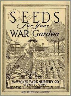"""Vegetable seeds for a """"War Garden"""" later became know as the """"Victory Garden! Vintage Diy, Vintage Labels, Vintage Ephemera, Vintage Paper, Vintage Images, Vintage Packaging, Vintage Farm, Vintage Stuff, Vintage Signs"""