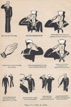 How to salute. U.S. Navy style