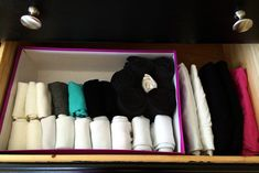 Then grab another box to corral your socks. | 7 Easy Organizing Tricks You'll Actually Want To Try