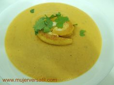 Crema de Plátano Maduro (Ripe Banana Cream Soup) you can translate the page using google.