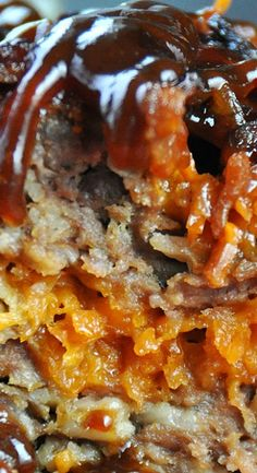 I may have just created the ULTIMATE meatloaf! This Crock Pot BBQ Bacon Cheddar Meatloaf is phenomenal! Crock Pot Slow Cooker, Crock Pot Cooking, Easy Cooking, Slow Cooker Recipes, Gourmet Recipes, Crockpot Recipes, Cooking Recipes, Easy Recipes, Dinner Recipes