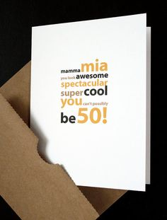 Happy 50th Birthday Card — For Him, Her, Friend, Husband, Wife, Mother, Father, Boyfriend, Girlfriend, Anyone Turning 50! — by allotria on Etsy