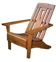 Reworking of the classic Adirondack chair with an Arts & Crafts sensibility, paying tribute to Limbert's famous hall chair, with its distinctive triangular cutout.