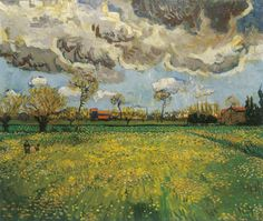 Landscape under a Stormy Sky 1889 Vincent Van Gogh (Impressionism and Open-Air Painting 1860 to early 19C