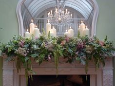 how to decorate mantel for a wedding - Google Search