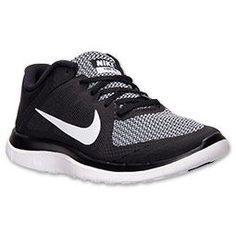 new product 32dbc 214a2 Women s Nike Free 4.0 V4 Running Shoes   FinishLine.com   Black White
