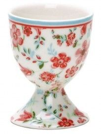BN Shabby Chic Heart Personalised Egg Cup Romantic Heart Themed China Egg Cup