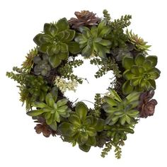 In this DIY project you learn how to simply make a gorgeous living succulent wreath to hang or use as a table centerpiece. Full instructions with photos.