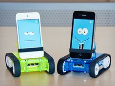 Meet Romo, The Smartphone Robot. He can roam around the house, dance to music, or if the front camera is on be your little spy-bot.
