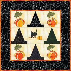 Free halloween quilt idea,design by Dorte Rasmussen Denmark