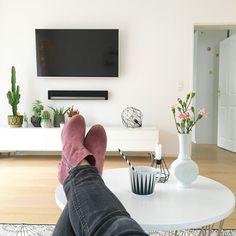 tv wand (tv meubel) van steigerhout, wit gebeitst. www.vanlonden, Moderne