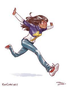 Marvel - Kamala Khan by rondanchan Ms Marvel Captain Marvel, Marvel Fan, Marvel Heroes, Stucky, Gi Joe, Loki, Ms Marvel Kamala Khan, Comic Art, Comic Books