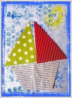 Summer Crafts For Kids, Summer Art, Summer Kids, Art For Kids, Summer Activities, Preschool Activities, Sea Crafts, Paper Crafts, Crafty Kids