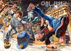 Illustration Story, Graphic Illustration, Poster Color Painting, Composition Art, Perspective Art, Korean Art, Ap Art, Graphic Design Posters, Drawing Reference