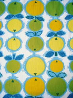 vintage circa 1965 Covent Garden cotton fabric, by Steward Wild for Cepea Screen Print