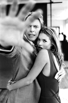 no photos. DAVID BOWIE & KATE MOSS. O david don't say no say yes yes yes.....