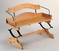 Buckboard Wagon Bench Woodworking Plan bench design diy for beginners plans tips tools Woodworking Jig Plans, Used Woodworking Tools, Woodworking Equipment, Woodworking Basics, Woodworking Magazine, Woodworking Machinery, Woodworking Techniques, Woodworking Videos, Custom Woodworking