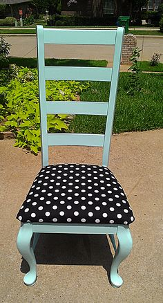 Aqua with black  & white.  Love those colors!  Shabby Chic, Distressed Furniture.