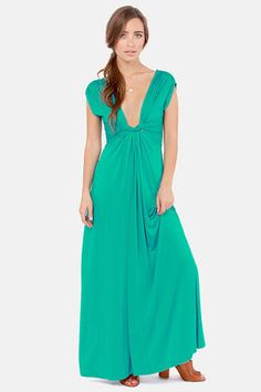 16a2fc4b611 Grand Central Sensation Teal Maxi Dress