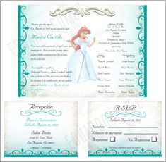 Teal blue photo quinceanera card quinceanera invitations and finished project quinceanera invitation solutioingenieria Image collections
