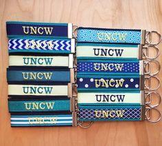 Key Fob UNCW UNC Wilmington Keychain UNCW by AppalachianSoulGifts