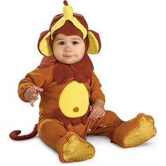 Little Monkey Costume - Baby, Infant Boy's, Size: 6-12MONTHS, Brown