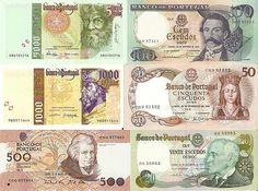 Notas Antigas (Escudos) - Os portugueses continuam agarrados à antiga moeda nacional, o escudo, e mantêm em casa notas que estão já fora de circulação no valor total de 110,46 milhões de euros.