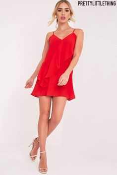 Buy PrettyLittleThing Frill Swing Dress from the Next UK online shop