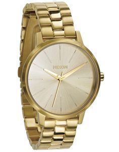 Nixon Womens Kensington Japanese quartz Stainless Steel watches All Gold Best Watches For Men, Beautiful Watches, Watch Sale, Bracelet Watch, Stuff To Buy, Nixon Watches, Gold Watches, Jewelry Watches, Carlos Santana