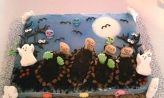 Grave yard cake! Halloween! A @Diane Kosmicki  creation!