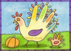 HAND PRINT TURKEYS ARE THE BEST