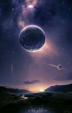 moon, dark purple