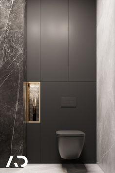 Wc Design, Bath Design, Grey Marble Bathroom, Small Toilet Design, Baths Interior, Dark Bathrooms, Black Interior Design, Minimal Bathroom, Restroom Design