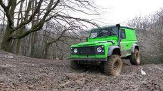 Land rover Defender 90 td5 off road. Deep mud.
