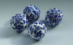 Delft-beads-x-4 | Flickr - Photo Sharing! these are made from polymer clay.