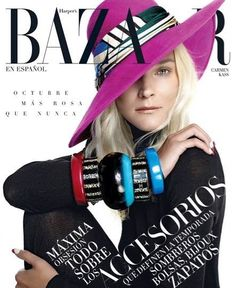 Carmen Kass poses in the fall collections for Harper's Bazaar Mexico October 2015 by Xevi Muntane [fashion] Fashion Magazine Cover, Fashion Cover, Daily Fashion, Magazine Covers, Magazine Spreads, Carmen Kass, David Carson Design, Fashion Show Themes, Harper's Bazaar