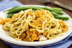 Cheesy cheddar chicken spaghetti casserole