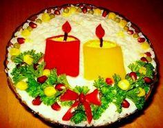 Merry Christmas!!! An idea for a salad decoration
