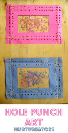 Great kids art idea : hole punch pictures