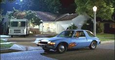 Wayne & Garth's 1976 AMC Pacer complete with flame decals from Wayne's World