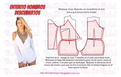 KiVita MoYo: ENTERITO CRUZADO SIN HOMBROS Make Your Own Clothes, Diy Clothes, Blouse Patterns, Clothing Patterns, Fashion Sewing, Diy Fashion, Cut Shirt Designs, Kids Summer Dresses, Sewing Sleeves