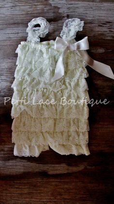 Hey, I found this really awesome Etsy listing at http://www.etsy.com/listing/151664520/lace-romper-ivory-romper-girls-romper