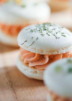 Smoked Salmon Macarons - Boursin cheese & smoked salmon