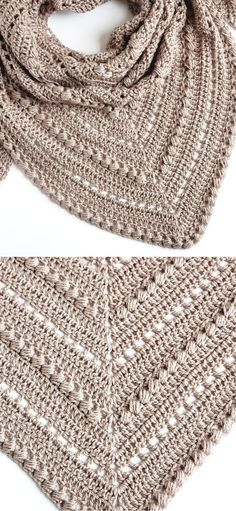 Shawl Patterns, Knitting Patterns, Knitting Tutorials, Crochet Shawl, Free Crochet, Knit Crochet, Ombre Yarn, Crochet Triangle, Gowns