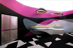 Karim Rashid's magical, hot pink 'Sparkle Krib' in Milan.